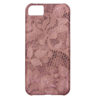 Rose Pink Lace iPhone 5C Cover