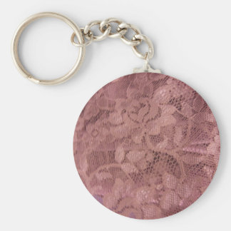 Rose Pink Lace Keychain