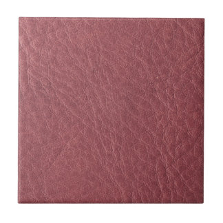 Rose Pink Leather Texture Ceramic Tiles