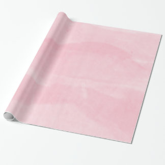 Rose Pink Pastel Watercolor  Wrapping Paper