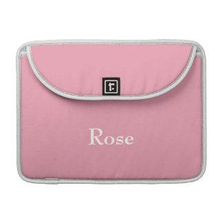 Rose Pink Personalized Macbook Sleeve