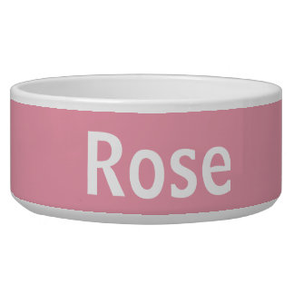 Rose Pink Personalized Pet Bowl