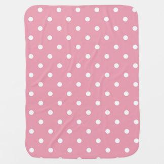 Rose Pink Polka Dot Baby Blanket
