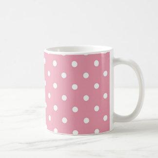 Rose Pink Polka Dot Coffee Mug Template