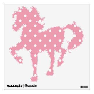 Rose Pink Polka Dot Horse Wall Decal