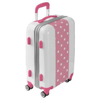Rose Pink Polka Dot Luggage