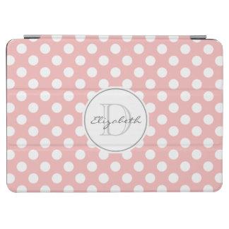Rose Pink Polka Dot Monogram iPad Air Cover
