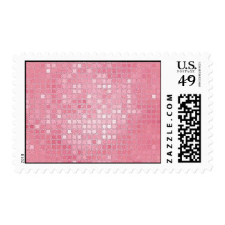 Rose Pink Sequin Look Postage