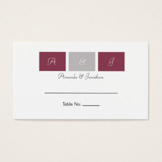 Rose Pink Squares Table Cards