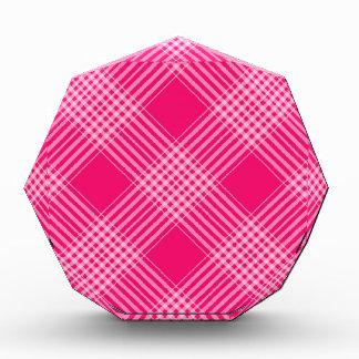 ROSE PINK TARTAN (a pale red design) ~ Award