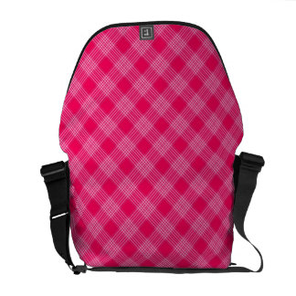 ROSE PINK TARTAN (a pale red design) ~ Courier Bags