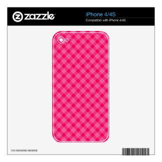 ROSE PINK TARTAN (a pale red design) ~ iPhone 4 Skins