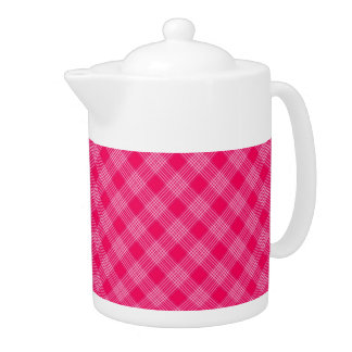 ROSE PINK TARTAN (a pale red design) ~ Teapot