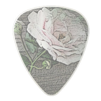 Rose Polycarbonate Guitar Pick