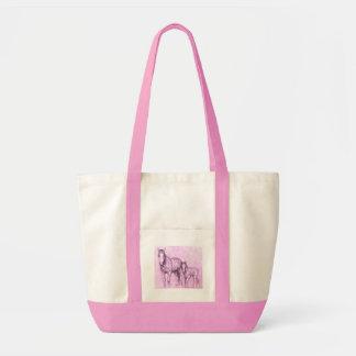 rose ponies tote bag