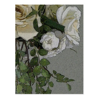 Rose-poster-style Postcard