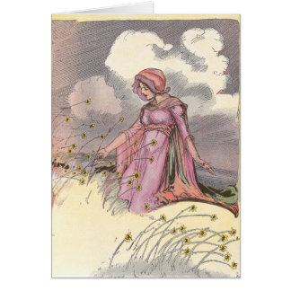 Rose Princess in Field of Flowers Greeting Card