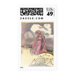 Rose Princess in Field of Flowers Postage Stamps
