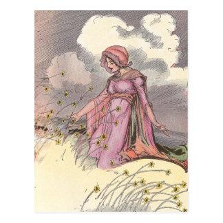 Rose Princess in Field of Flowers Postcard