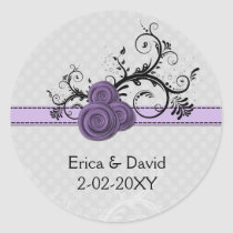 rose purple envelope seals
