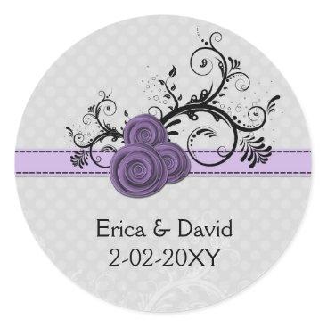 rose purple envelope seals