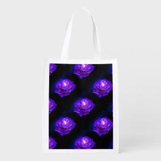 Rose Purple Reusable Grocery Bag
