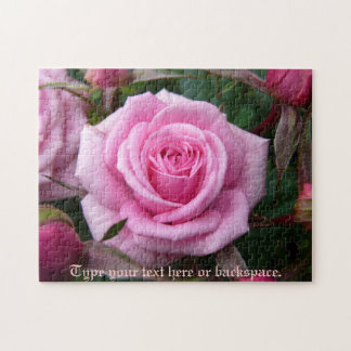Rose Puzzle Personalized Pink Rose Puzzles