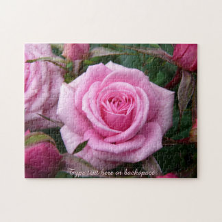 Rose Puzzle Personalized Pink Roses Puzzles