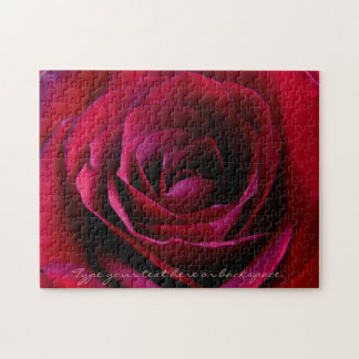 Rose Puzzle Personalized Red Rose Puzzles