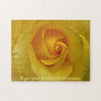 Rose Puzzle Personalized Yellow Rose Puzzles