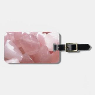 Rose Quarts spiritual pink love crystal Bag Tag