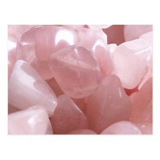 Rose Quarts spiritual pink love crystal postcard