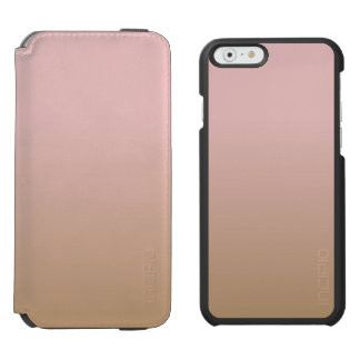 Rose Quartz and Iced Coffee Ombre Pink Brown iPhone 6/6s Wallet Case