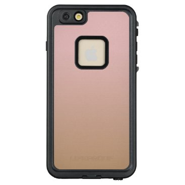 Coffee Themed Rose Quartz and Iced Coffee Ombre Pink Brown LifeProof FRĒ iPhone 6/6s Plus Case