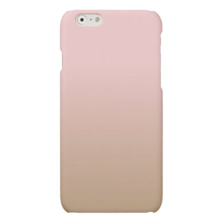 Rose Quartz and Iced Coffee Ombre Pink Brown Matte iPhone 6 Case