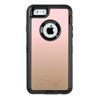 Rose Quartz and Iced Coffee Ombre Pink Brown OtterBox Defender iPhone Case