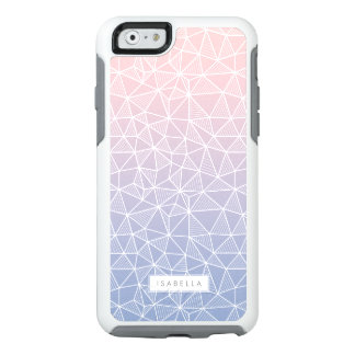 Rose Quartz and Serenity Ombre Geometric Pattern OtterBox iPhone 6/6s Case