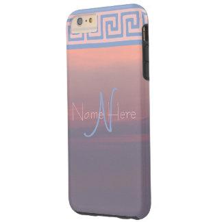 Rose Quartz And Serenity Sunrise Sky Monogram Tough iPhone 6 Plus Case