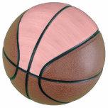 Rose Quartz Bamboo Wood Grain Look Basketball