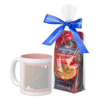 Rose Quartz Cat Quilt Gray and Coffee Cats Kawaii Two-Tone Coffee Mug