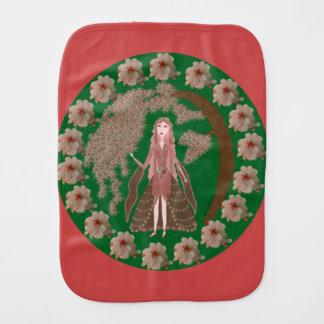 Rose Quartz Faerie Burp Cloth
