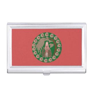 Rose Quartz Faerie Business Card Case