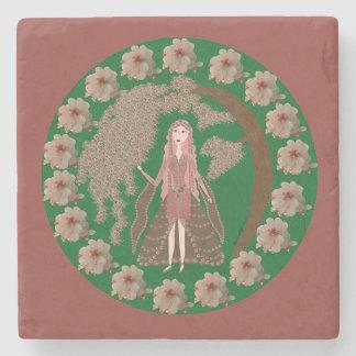 Rose Quartz Faerie Stone Coaster