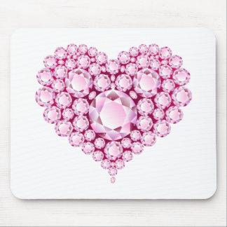 Rose Quartz Heart Gems Mouse Pad
