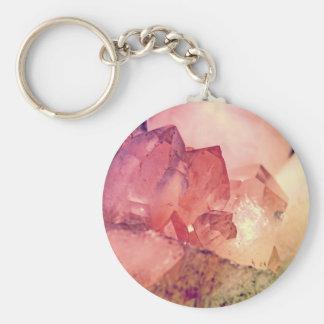 rose quartz key chains