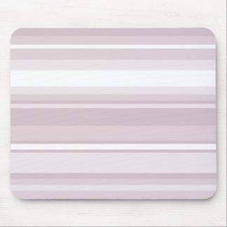 Rose quartz pink stripes mouse pad