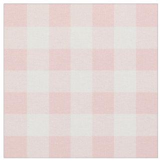 Rose Quartz Pink & White Gingham Check Fabric