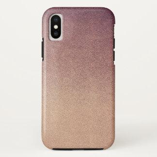 Rose Quartz Rose Gold Ombre Glitter Sand iPhone X Case