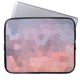 Rose Quartz Serenity Mosaic Laptop Sleeve