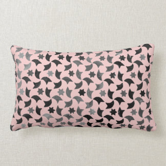 Rose Quartz Star Mosaic Lumbar Pillow